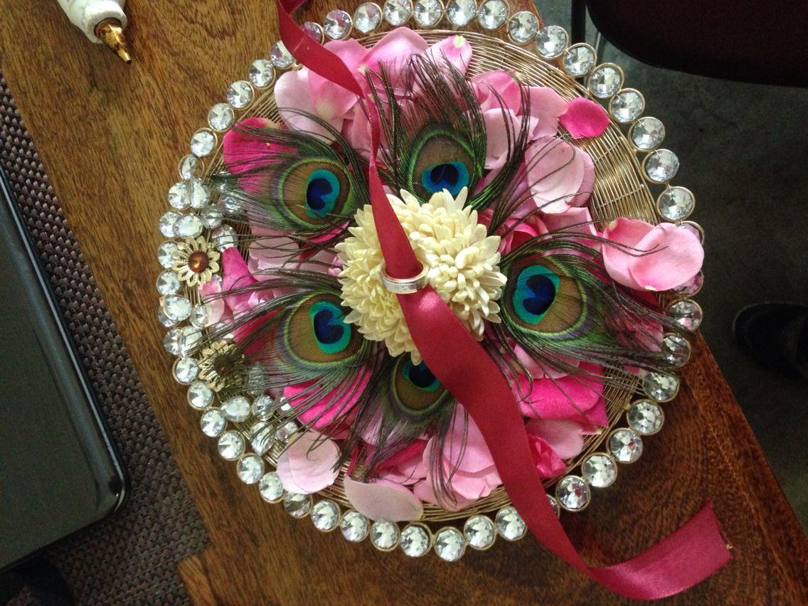 Wedding ring tray !  Done myself , it pretty