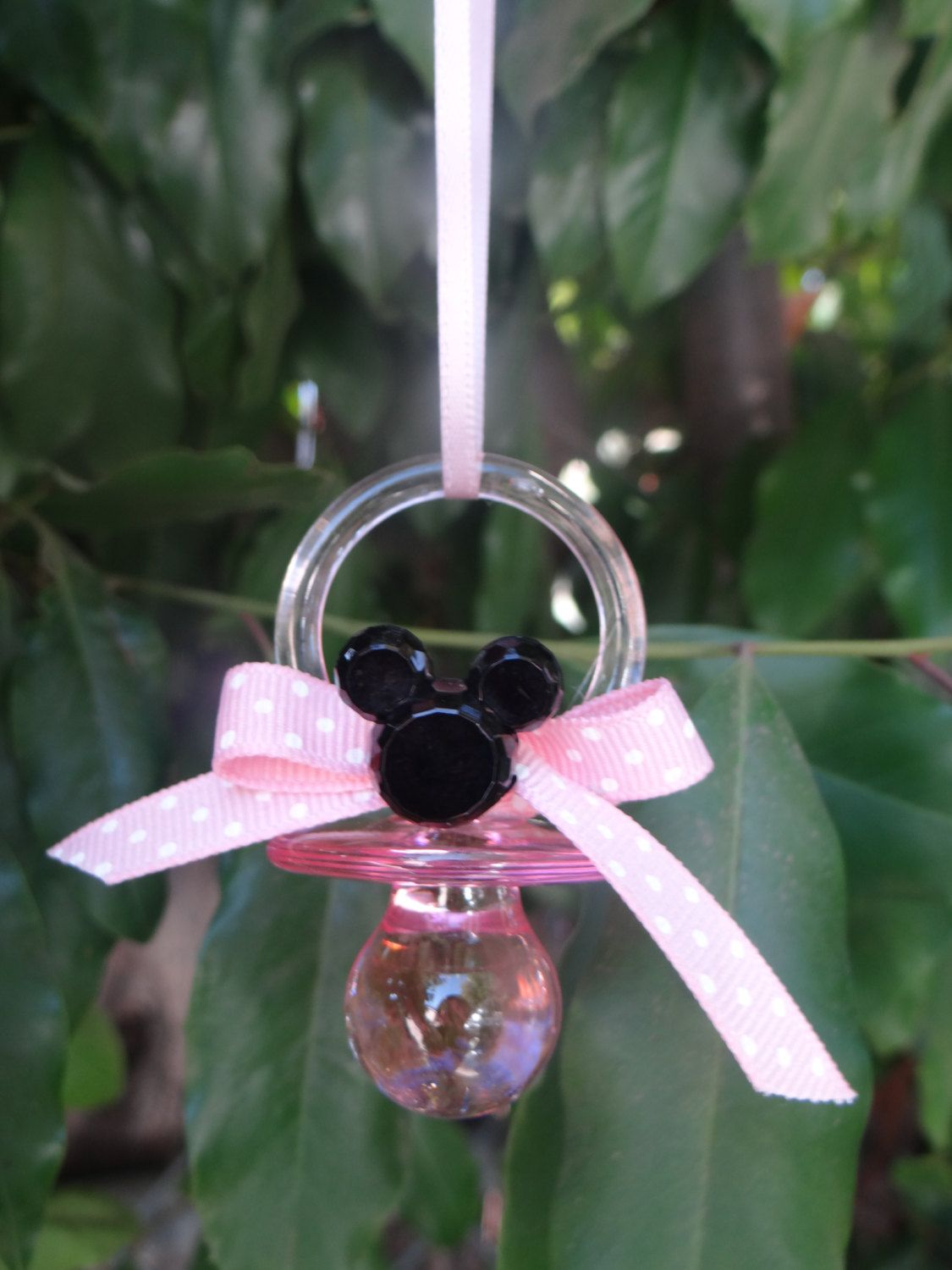 12 Minnie Mouse Pacifier Baby Shower Favors By FantastikCreations, $23.00