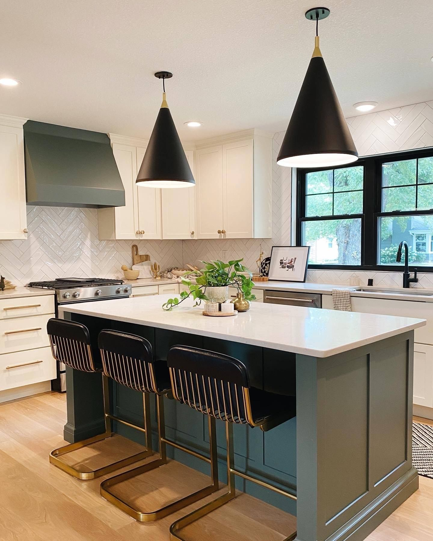 Trending in Kitchens and Baths: Green Cabinetry