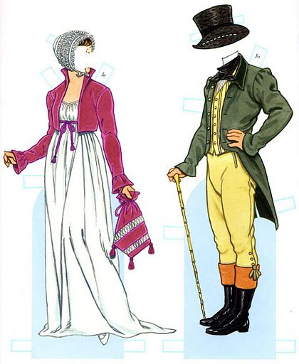 Empire Costumes Paper Dolls