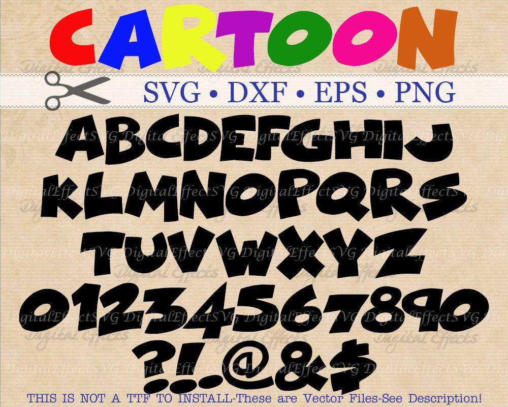 CARTOON Letters Monogram Svg Files, Dxf, Eps, Png, Cartoon