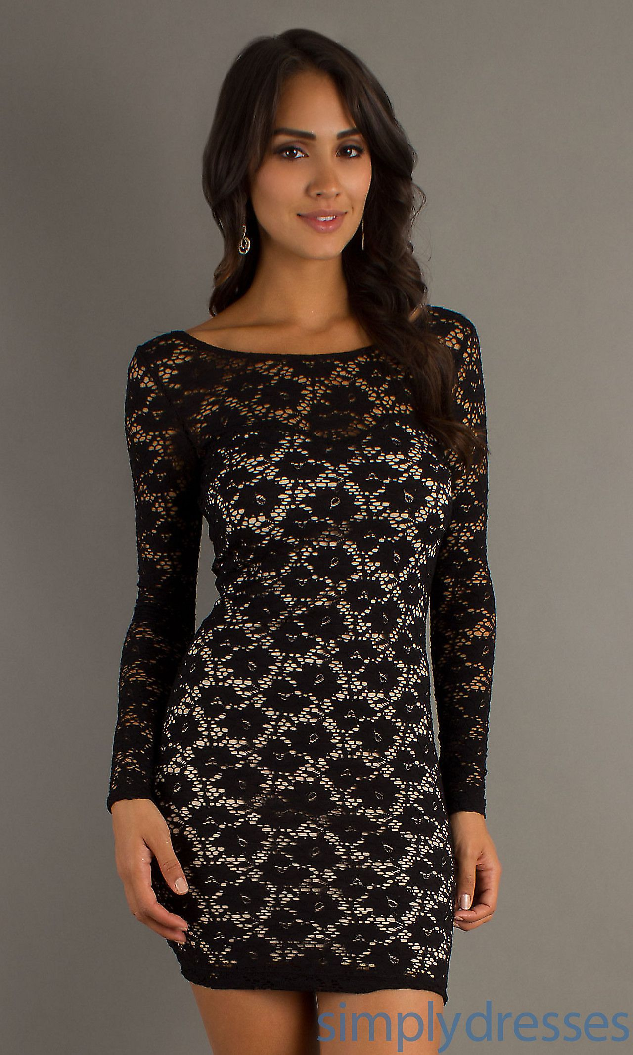 Short black lace dress fashion pinterest long prom dresses