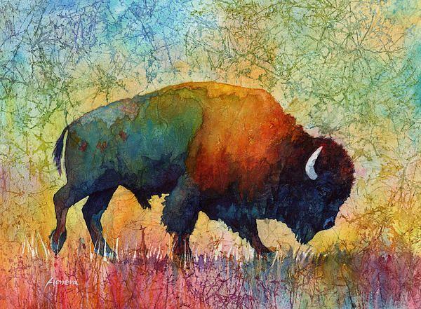 American Buffalo 4 Bison Art Buffalo Art Buffalo Painting