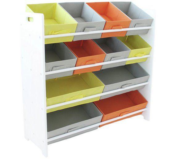 Buy Argos Home 4 Tier Kids Basket Storage Unit White Toy Boxes