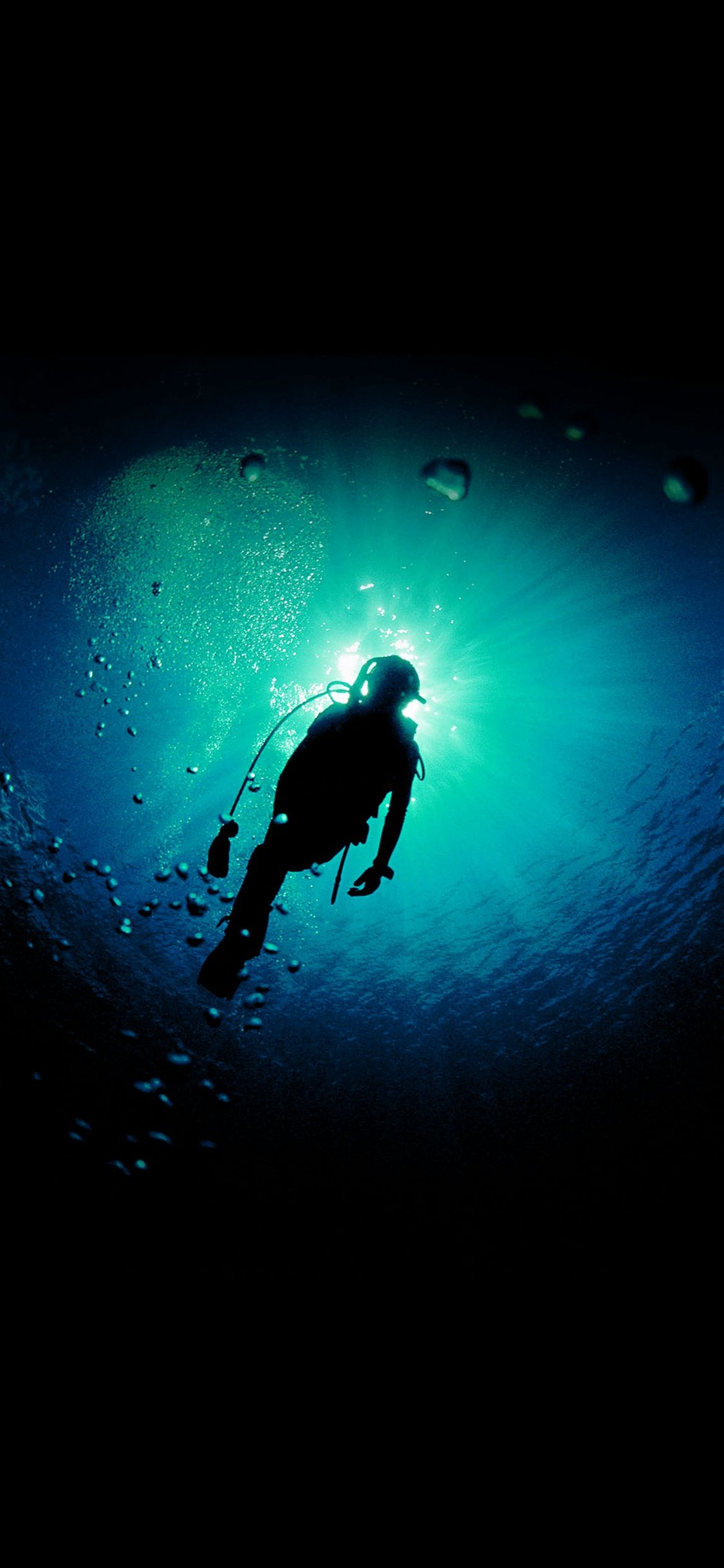 deep blue green ocean dive #iphone #x #wallpaper | iphone x