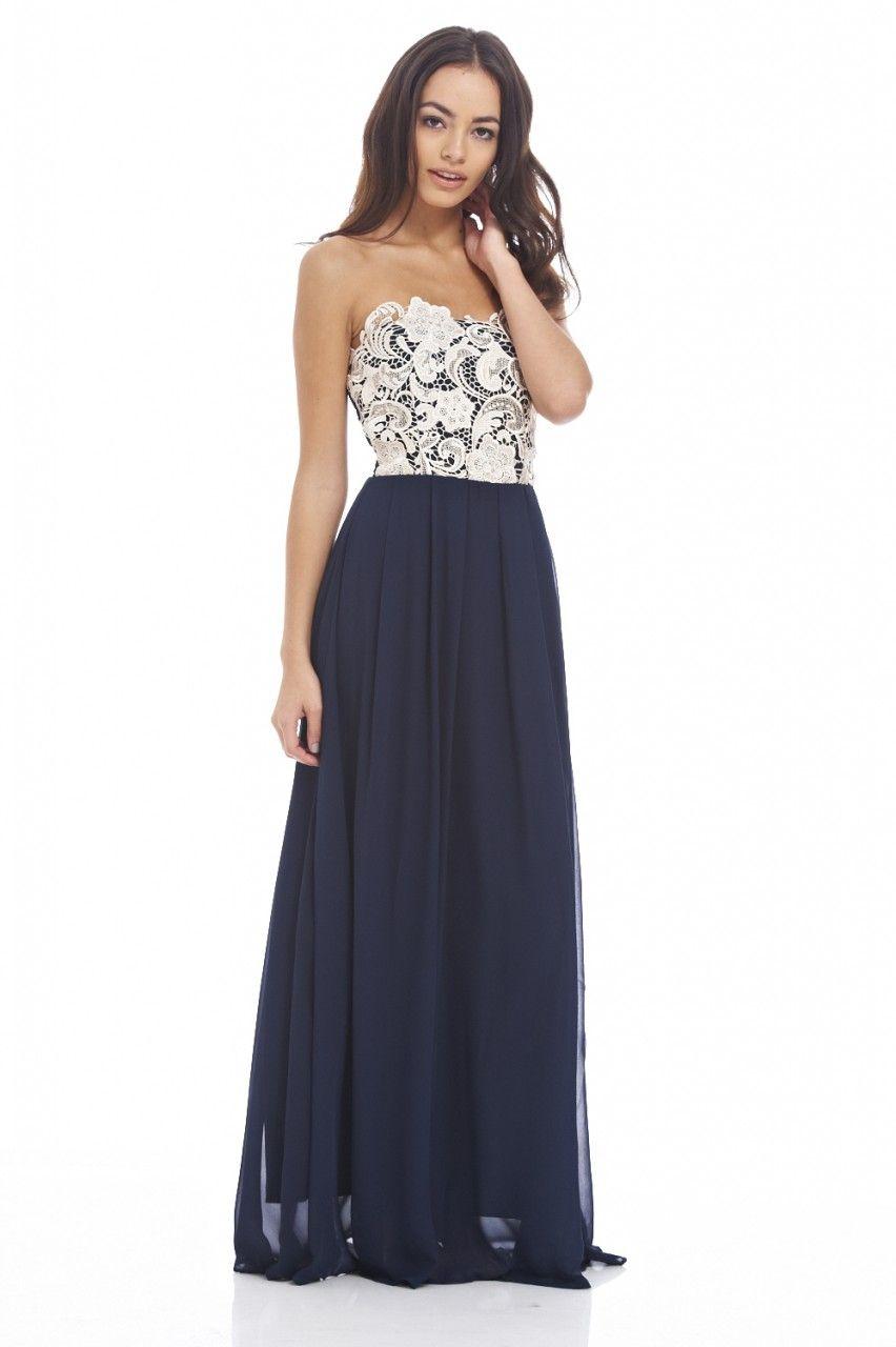 776fa5d4cee2 Crochet Boobtube Maxi Dress - AX Paris | wedding bridesmaids and ...