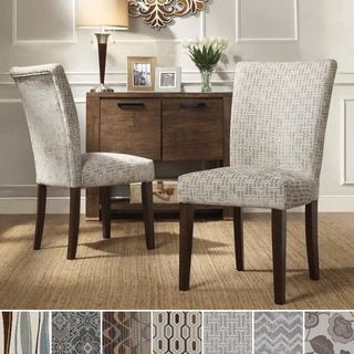 Inspire Q Catherine Print Parsons Dining Side Chair Set Of 2 Best Dining Room Furniture Outlet Stores Review