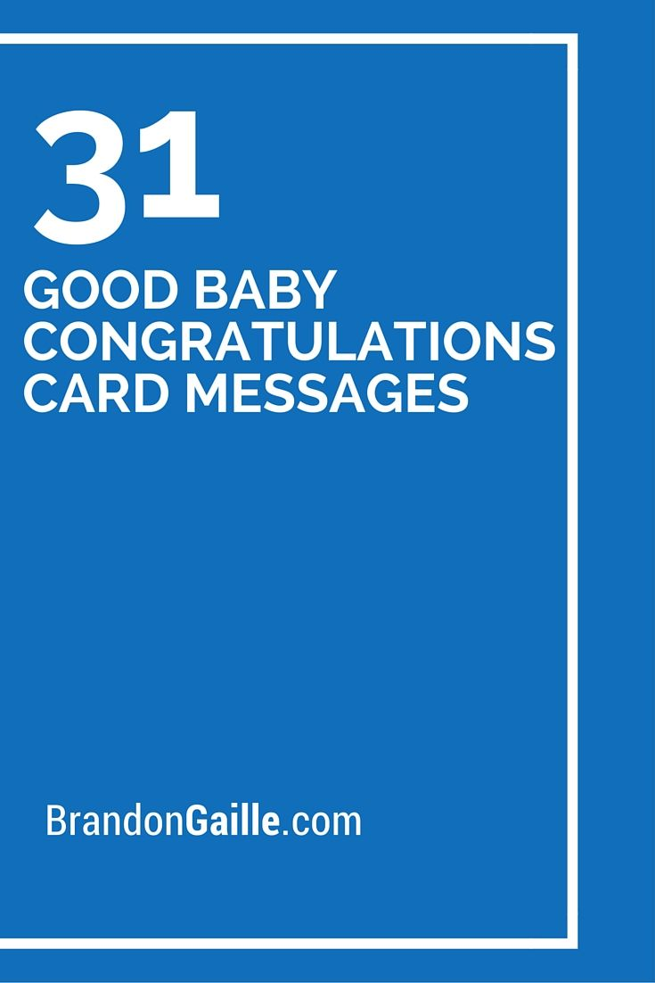 33 Good Baby Congratulations Card Messages | Cards/Sentiments ...