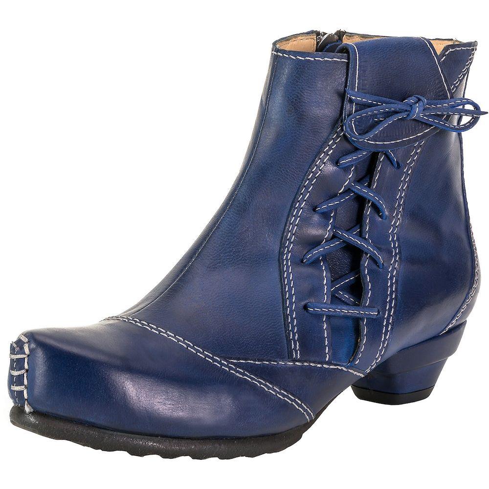 Tiggers Stiefelette Lore Damen Blau Grosse 40 Damenschuhe Damen Boots Schnurstiefeletten