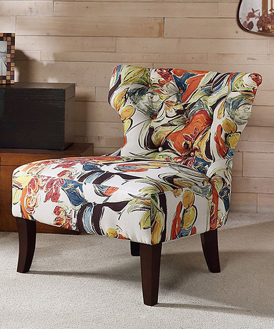 Best Take A Look At This Orange Blue Floral Accent Chair 640 x 480