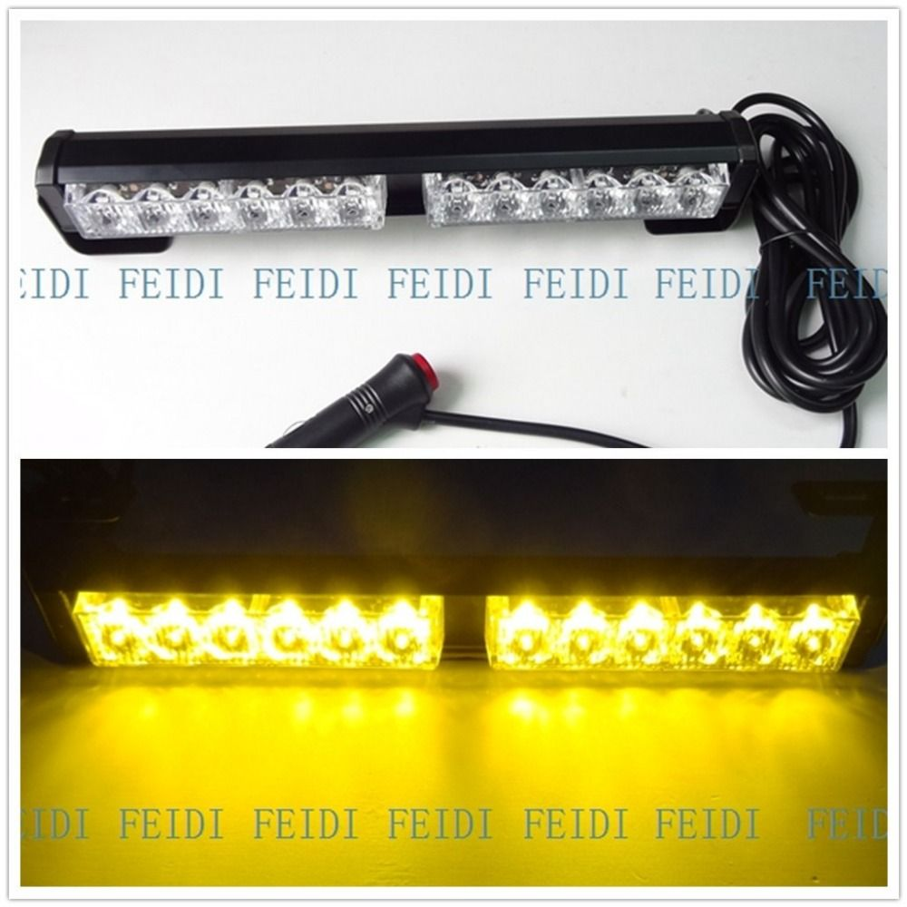 09012 12w Slitless Led Flash Lamp Slitless Stick Lamp High Power Led Roof Lamp Emergency Lighting Warning Lights Lights