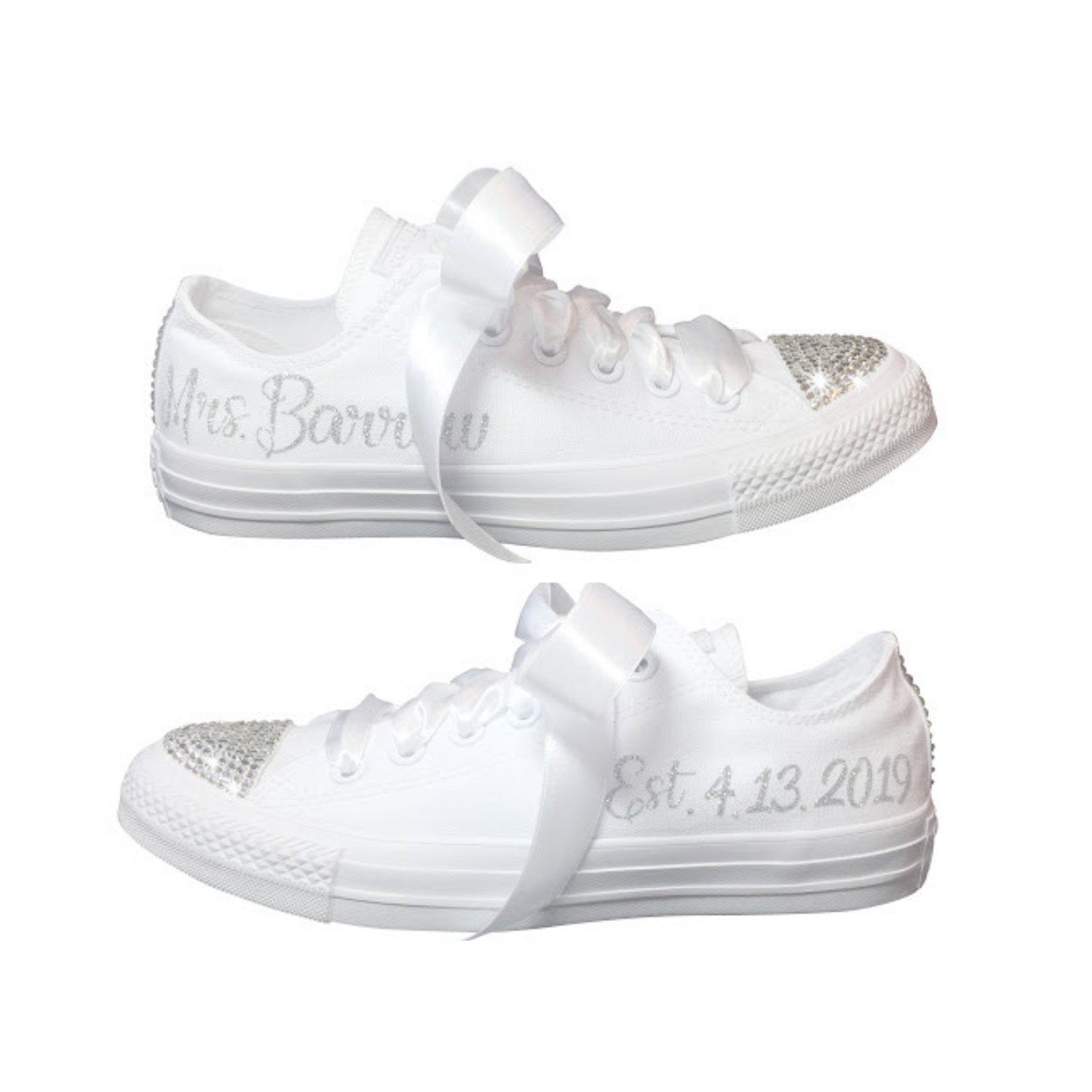 Wedding CONVERSE Bridal Sneaker Personalized with Swarovski