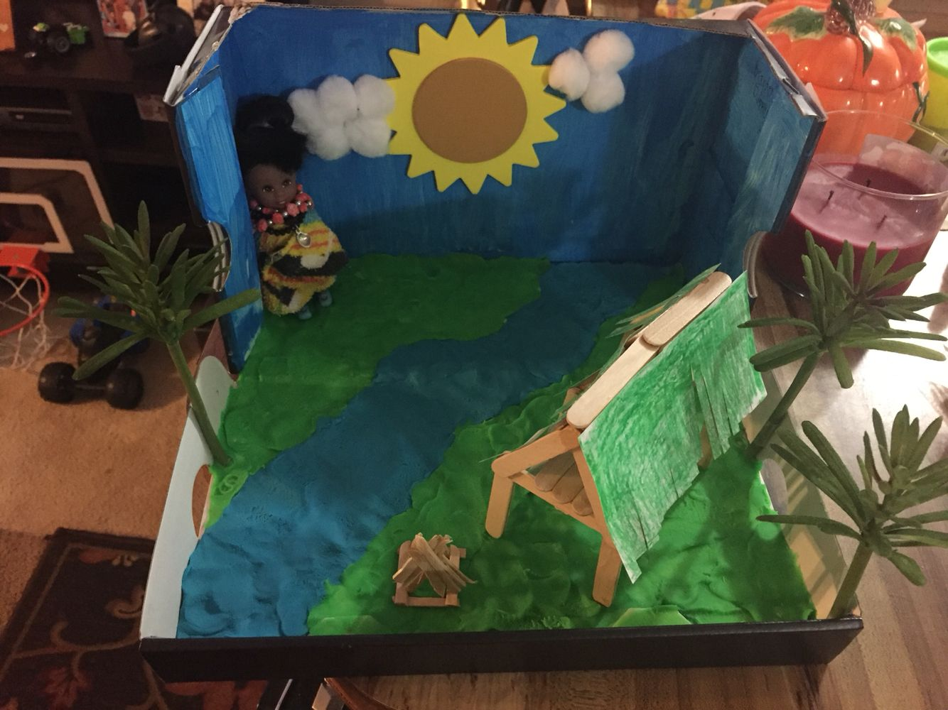 Seminole Indian Diorama Shoebox Project 2nd Grade By