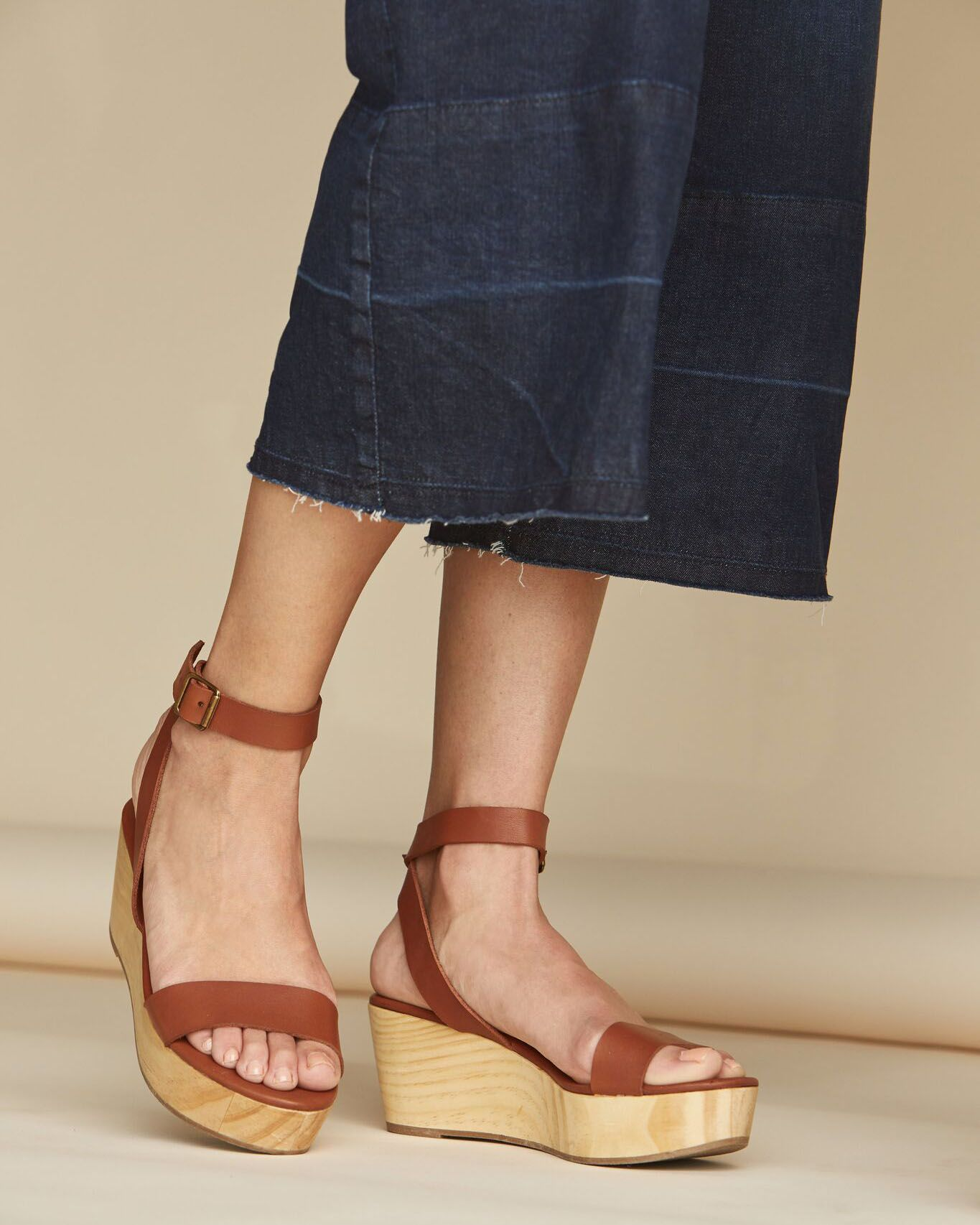 4e20a8156b1ecd Finally an elevated wedge sandal that provides both comfort and style. The  Sarita Wooden Wedge is proudly handcrafted in an ethical factory in León