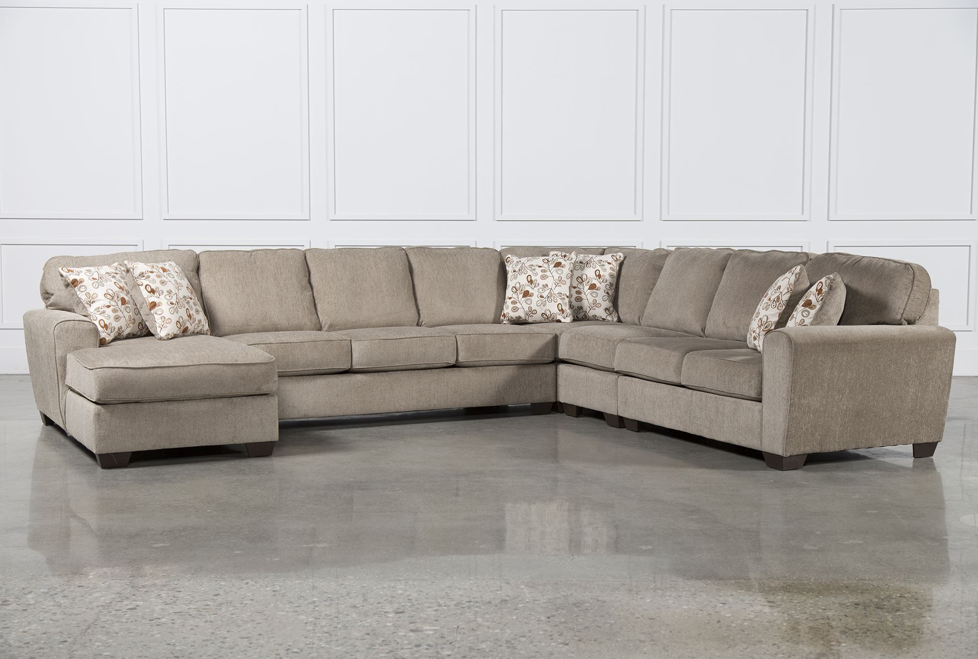 Patola Park 5 Piece Sectional WLaf Chaise Signature For the