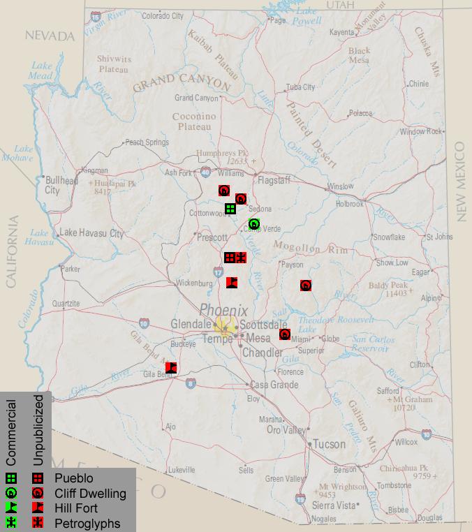 Map Of Arizona Indian Ruins.Ancient Indian Ruins In Arizona Maps Arizona Ruins Map