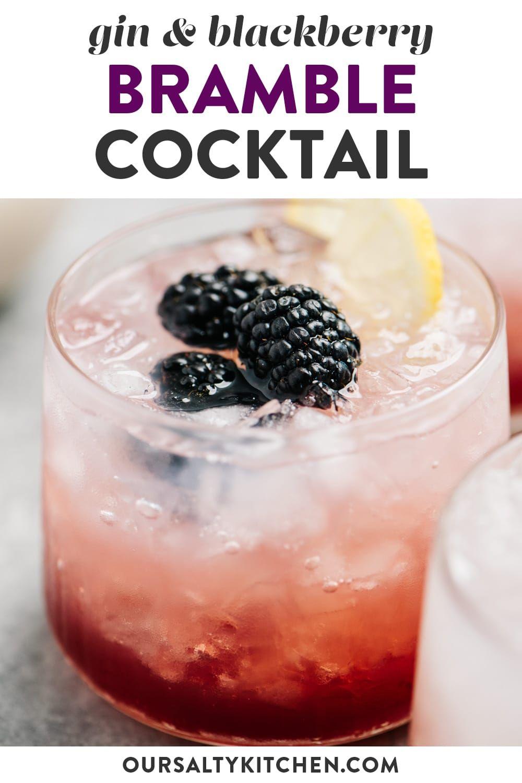 Bramble Cocktail Gin And Raspberry Recipe Bramble Cocktail Cocktail Recipes Easy Gin Cocktails