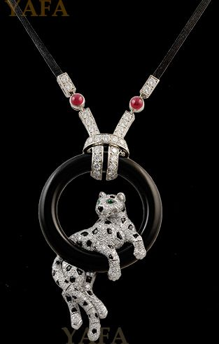 Cartier panther pendant necklace necklaces pinterest cartier cartier panther pendant necklace mozeypictures Image collections