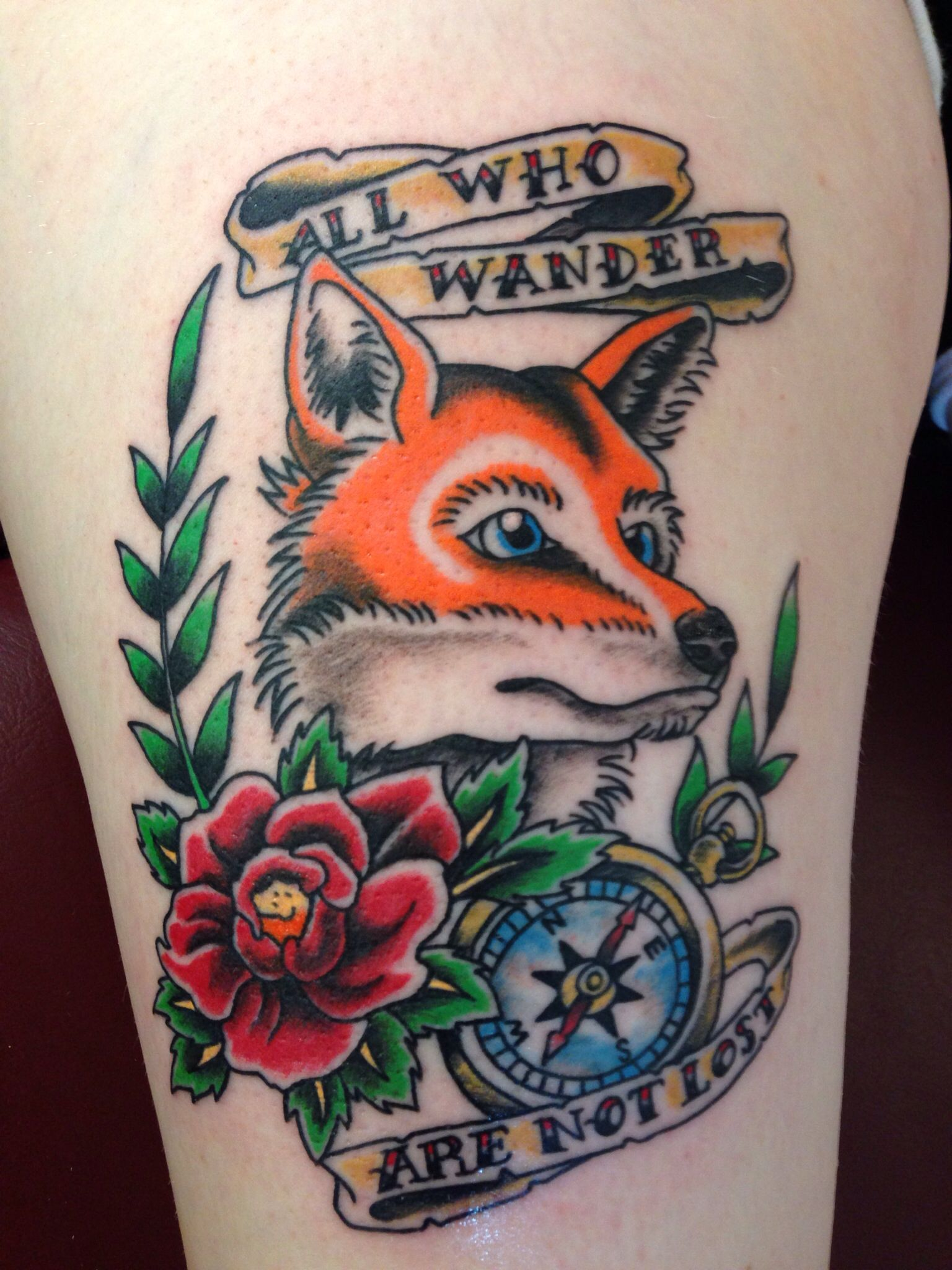 American traditional fox tattoo for Does tattoo goo really work
