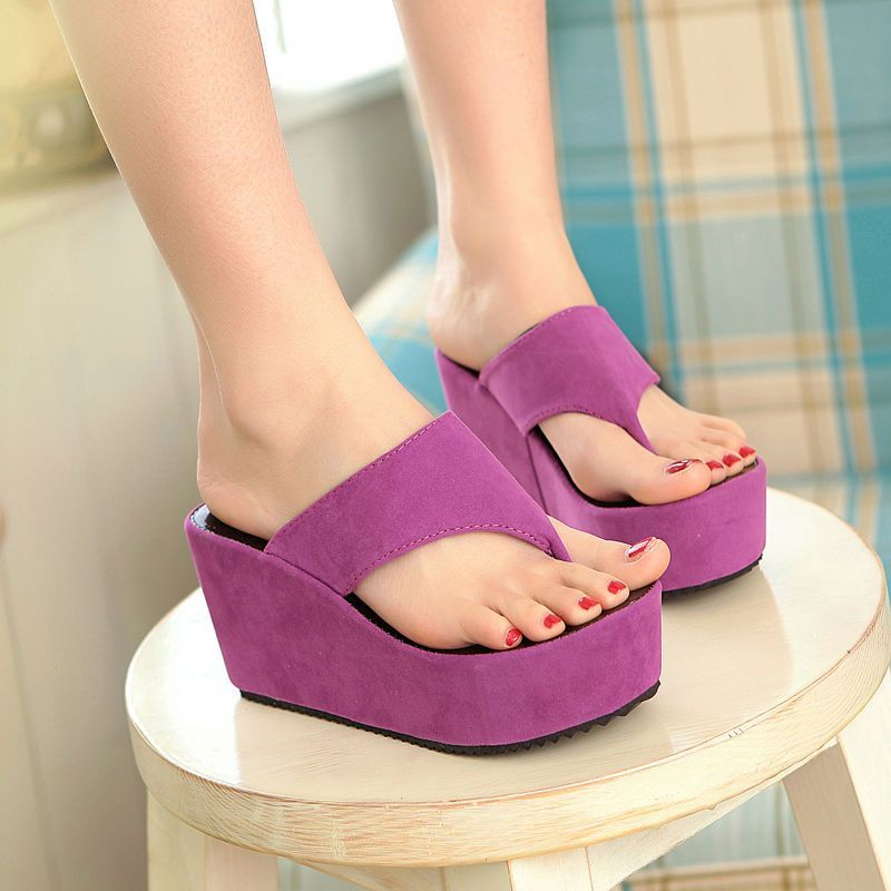 3121d722ac6 Womens Platform Wedge Heel Summer Beach Fashion New 2015 Flip Flop Sandals  Shoes  other  FlipFlops