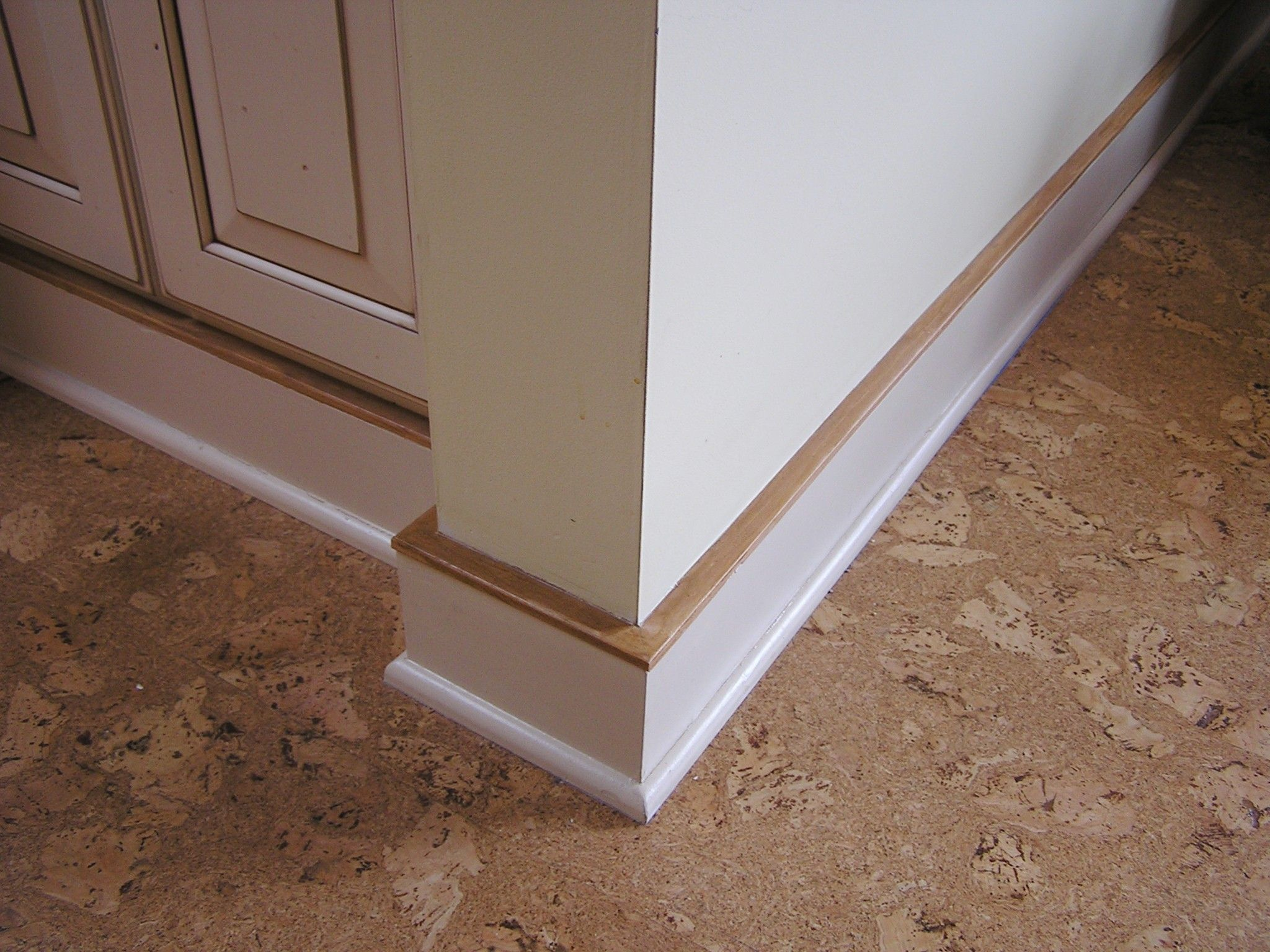 Take a look at baseboard and trim details mdf baseboard and hardwood base shoe were