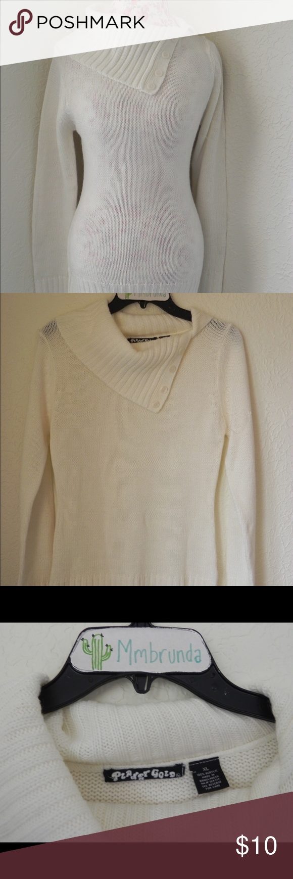 Beautiful Cream Turtleneck Sweater Cream colored Turtleneck ...
