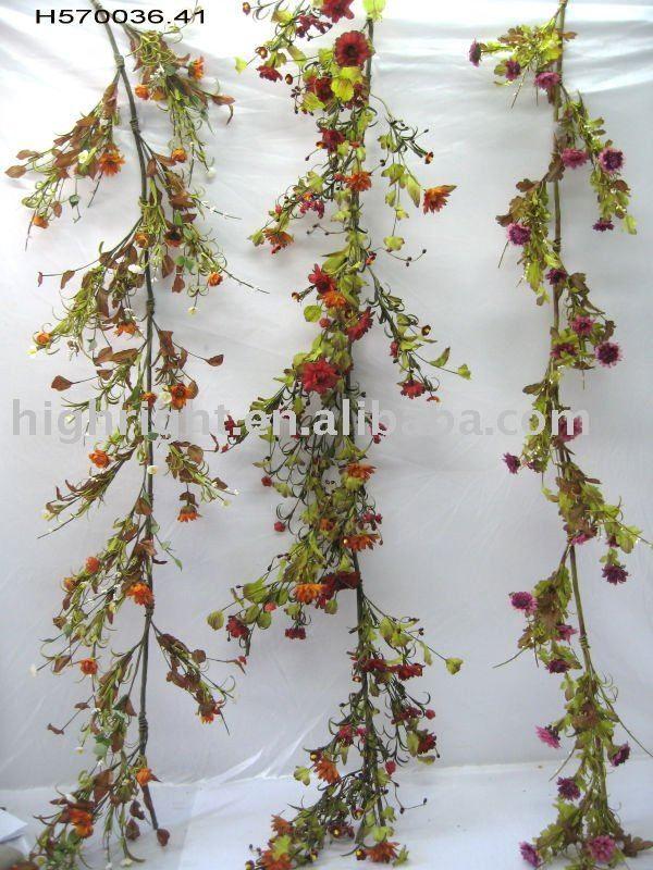 spring_flower_foliage_Artificial_flower_garland.jpg (600×800)