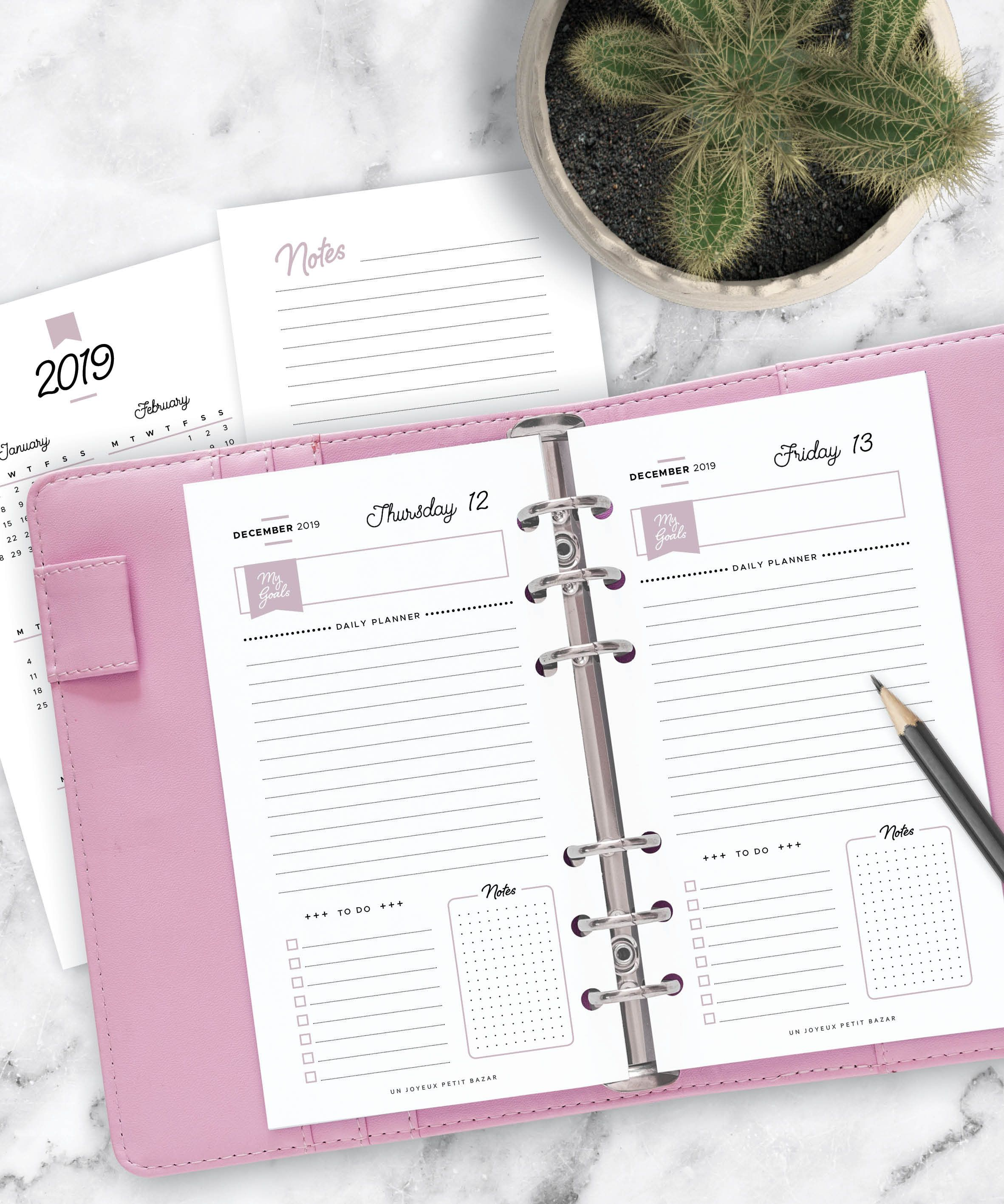 2020 2021 Daily Planner Set Printable Yearly And Monthly Etsy Planner Set Daily Planner Planner