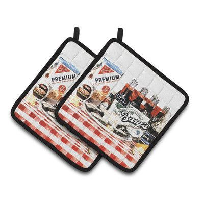 Caroline's Treasures Barq's Oysters Potholder