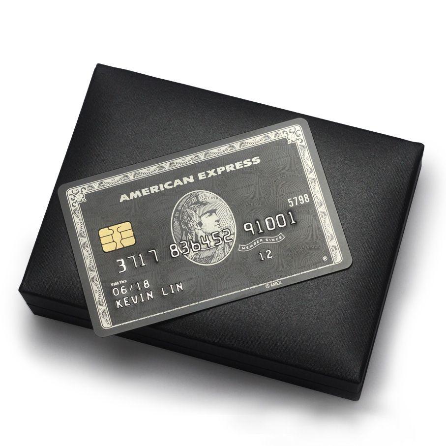 schwarze karte Metall schwarze karte/American Express Karte/chipkarte