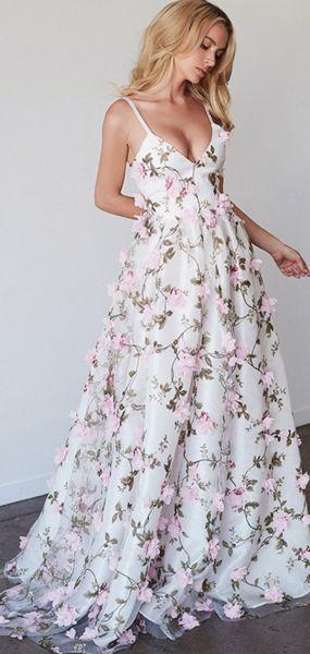 A Line V2 2 Neck Spaghetti Straps Long Prom Dresses