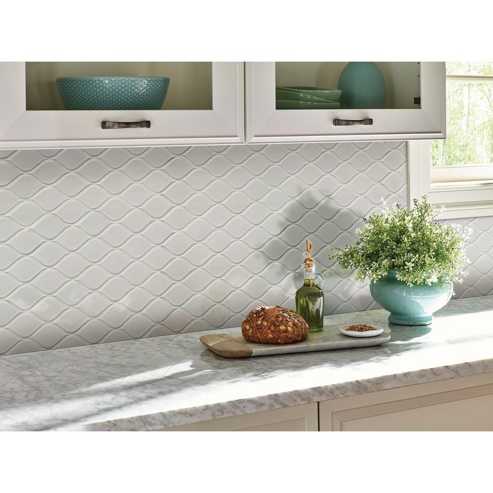 Msi White Tear Drop 10 62 In X 11 10 In X 6mm Glossy Porcelain Mesh Mounted Mosaic Tile 16 39 Sq Ft Case Nwhiteardrog The Home Depot Ceramic Wall Tiles Grey Subway Tiles Kitchen Tiles Backsplash