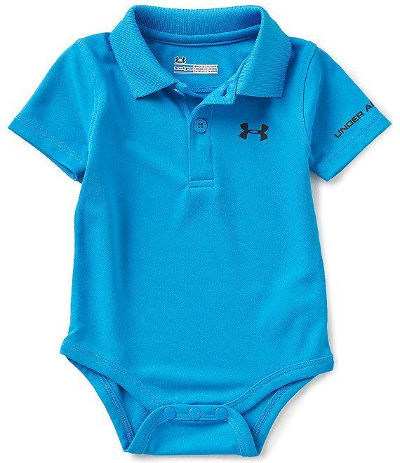 Under Amour Childrens Apparel Armour Baby-Boys Newborn Polo Yarn Dye.