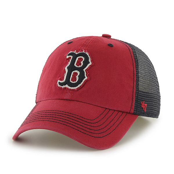 boston red sox 47 brand red taylor closer mesh stretch fit hat detroit game gear