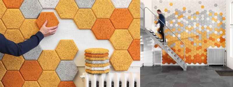 Hexagon Sound Insulation By Form Us With Love Sound Insulation Interior Wall Insulation Sale Decoration