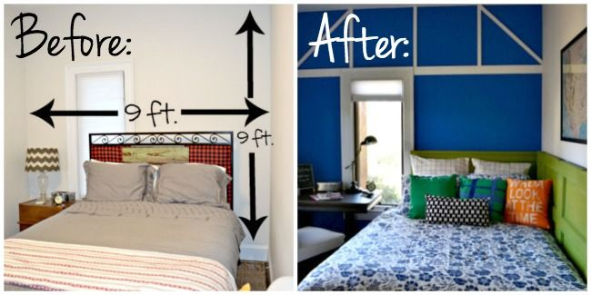 guest room before and after - from blah to colorful! From Dogs Don't Eat Pizza