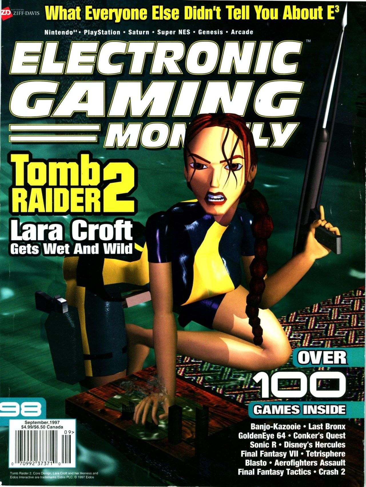 EGM 98, September 1997 Tomb Raider 2 cover. (With images