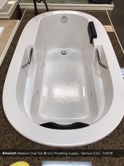 Best Americh Madison Oval Tub Vic's Plumbing Supply Ventura 400 x 300