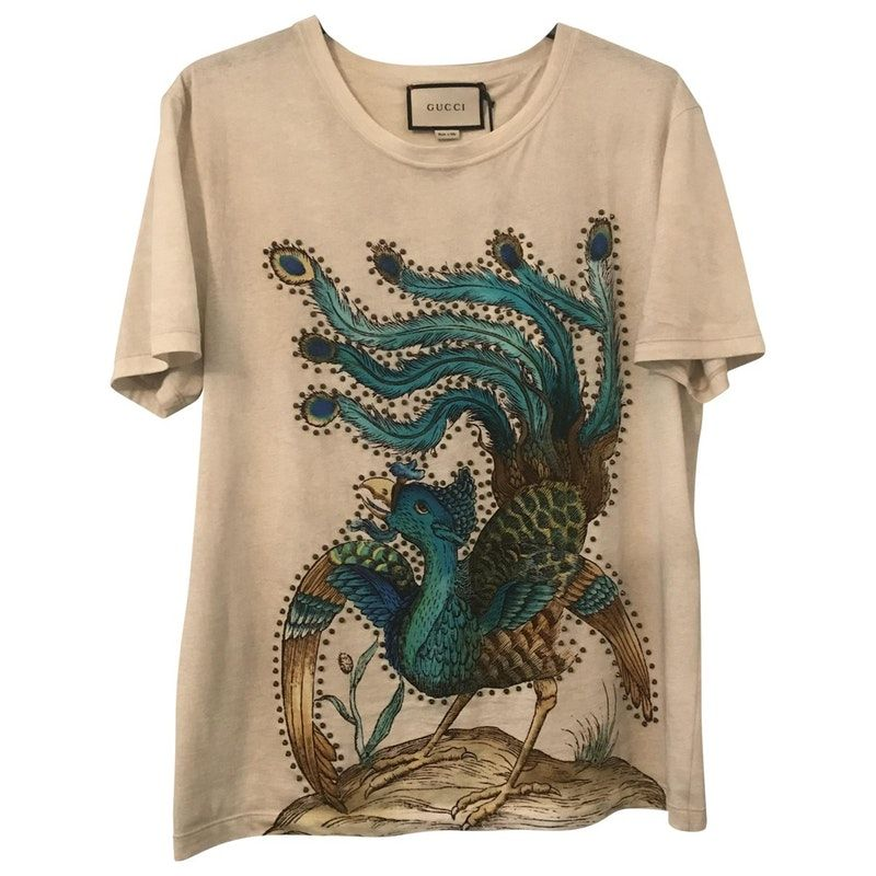 4d3b6c42 Buy your beige cotton t-shirt GUCCI on Vestiaire Collective, the luxury  consignment store online. Second-hand Beige cotton t-shirt GUCCI Beige in  Cotton ...