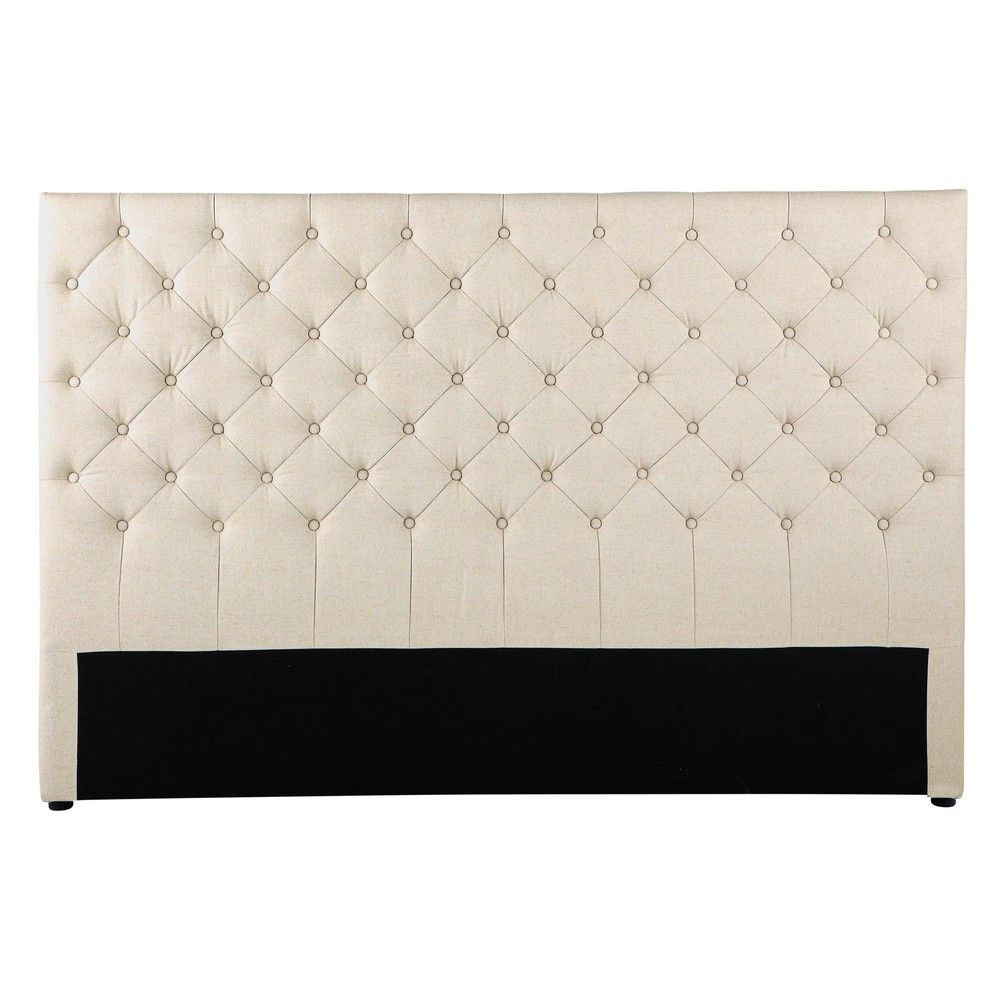 Bett Kopfteil Luxury Gestepptes Bett Kopfteil Im Vintage Stil Aus Leinen B 180 Linen Headboard Bed Furniture Design Linen Quilt