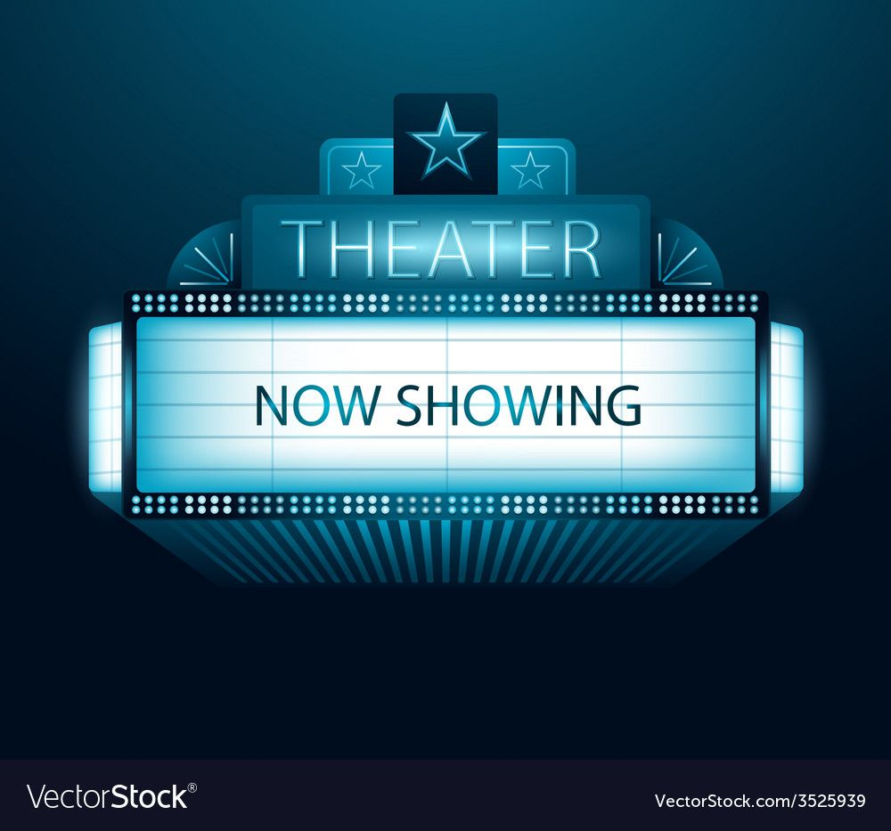 Now showing movie theater banner Royalty Free Vector Image