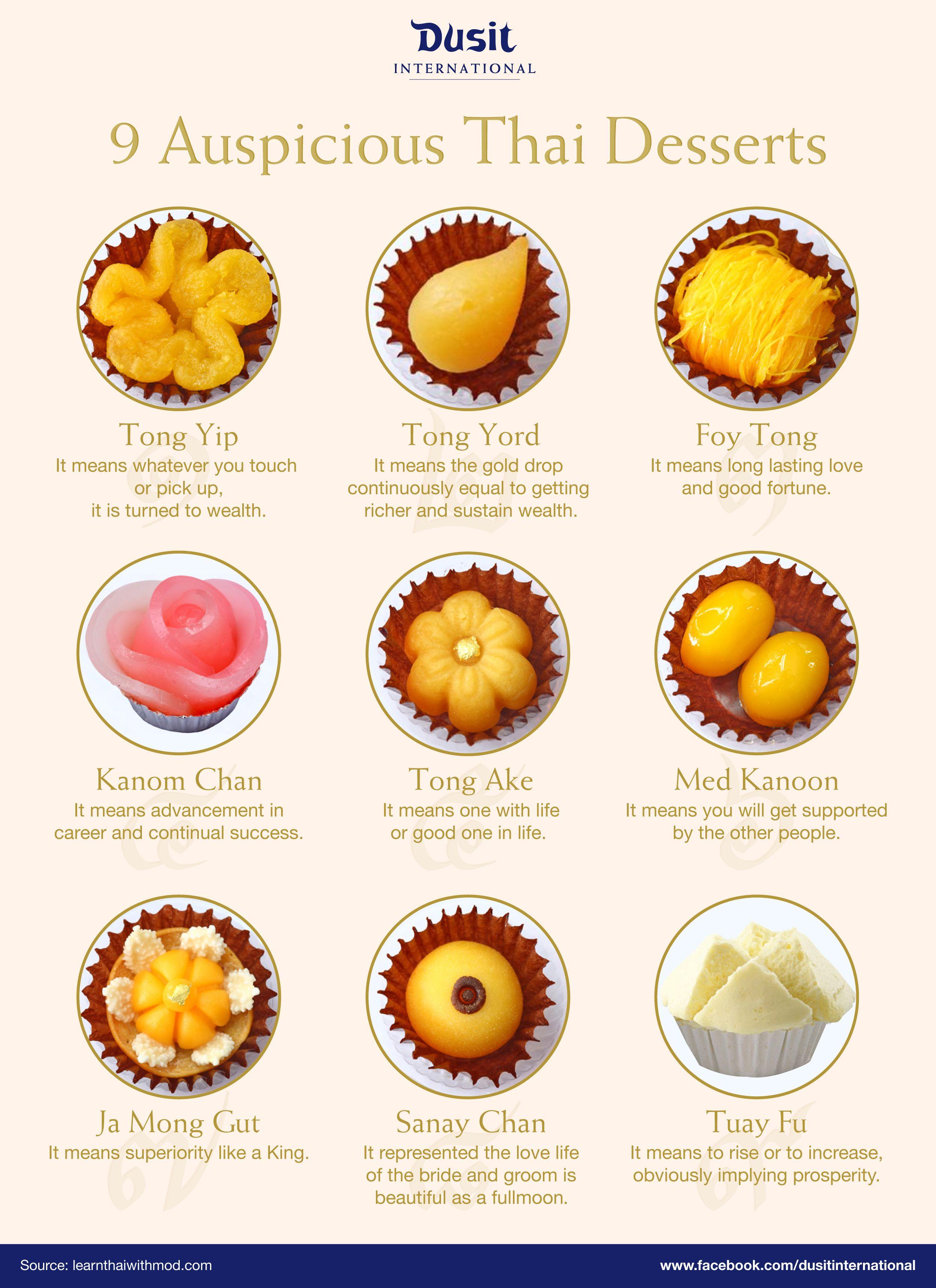 Nine Auspicious Thai Desserts