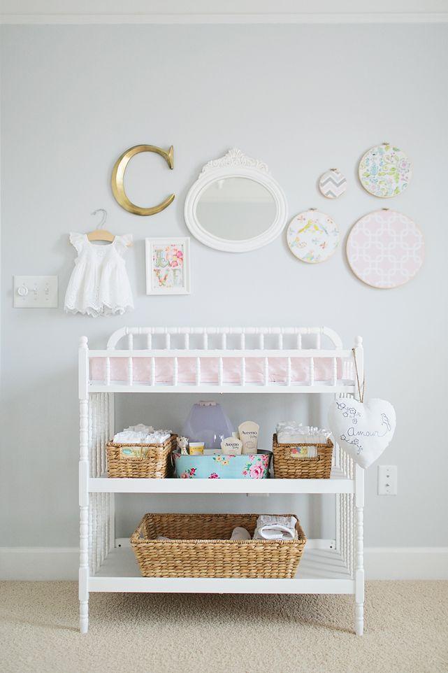 Changing Table Decor Baby Caroline | Atlanta Newborn Photography | Shabby Chic Nursery
