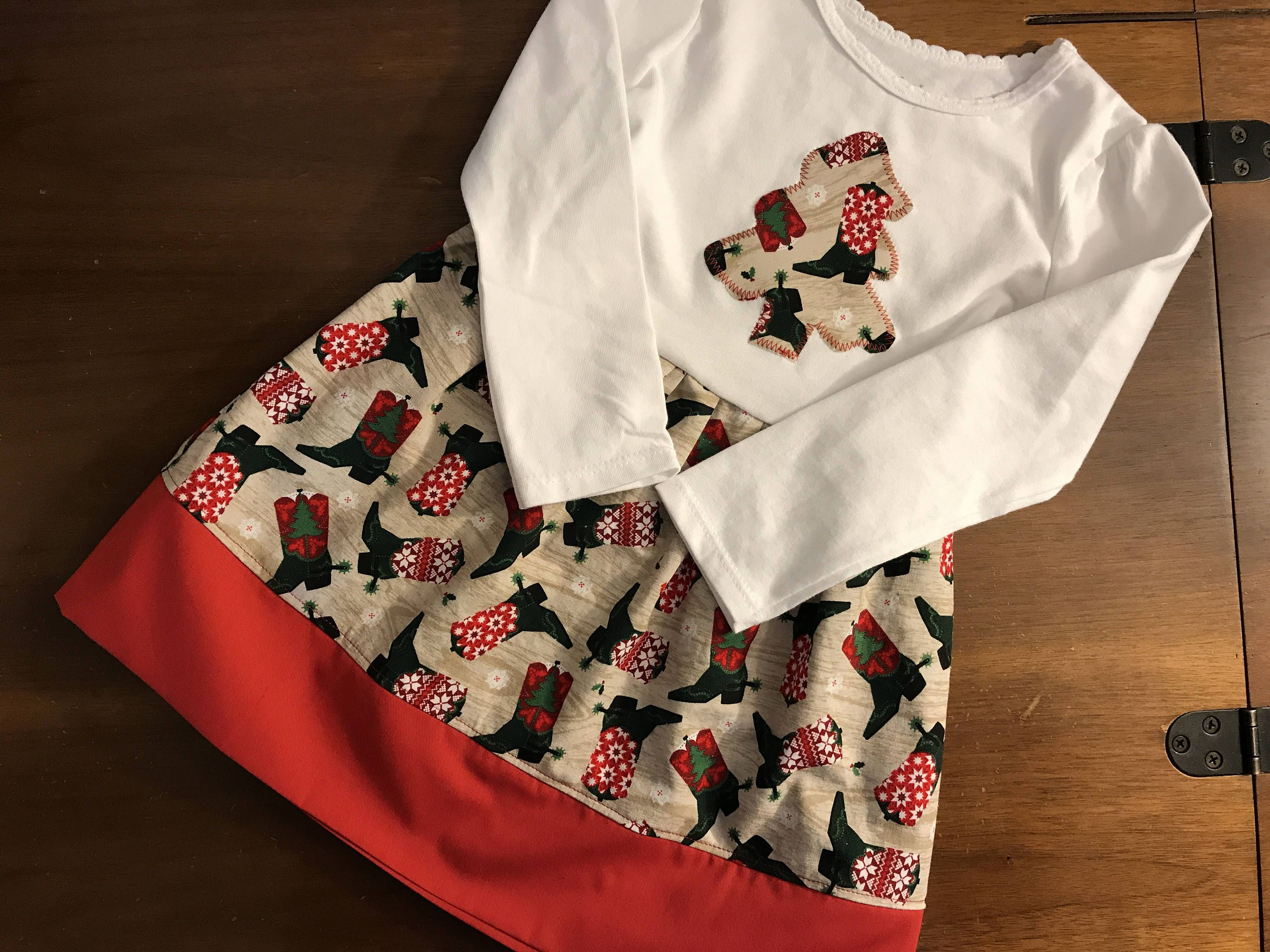 Cow girl christmas dress christmas dress cow girl holiday dress cow
