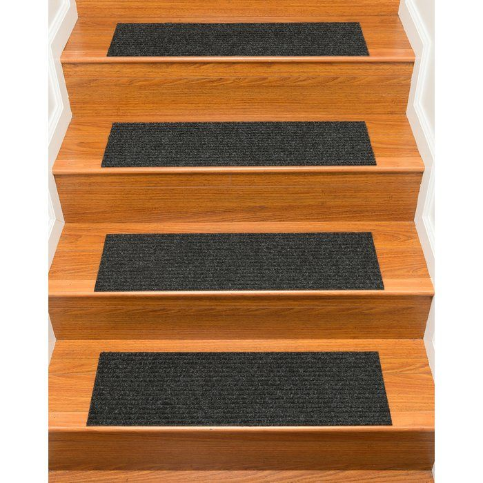 Best Bayless Charcoal Stair Tread Stair Tread Rugs Rugs 400 x 300