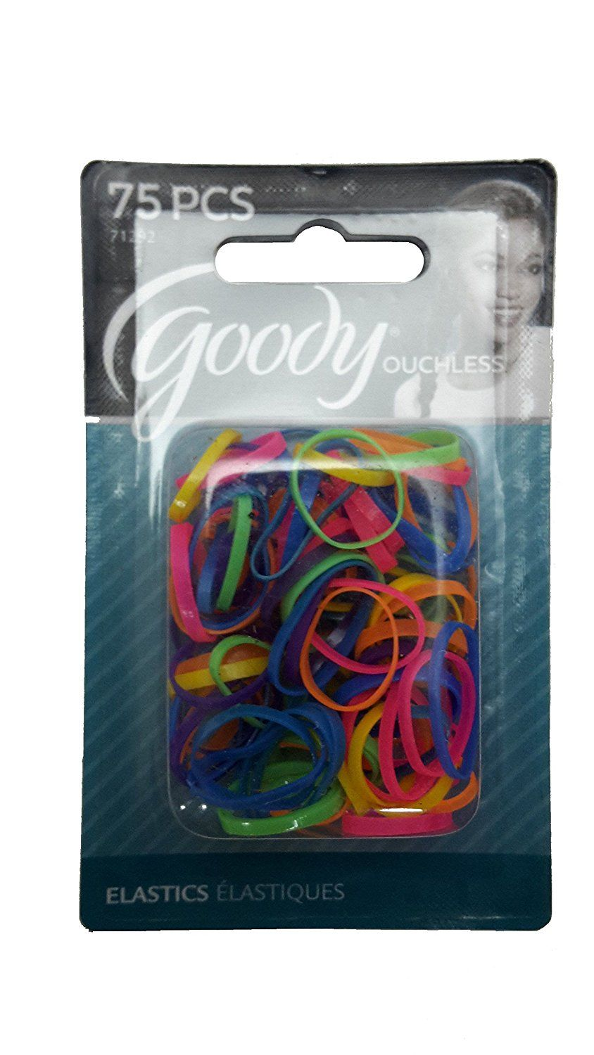 Goody Womens Classic Mini Neon Assorted Colors Polyband Elastics 75 Count  Item -71292    You can get more details by clicking on the image. 56621f9ac04