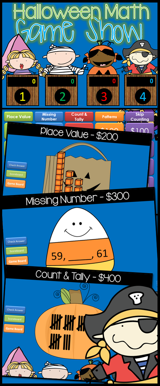 HALLOWEEN Math for First and Second Grade in a fun, INTERACTIVE ...