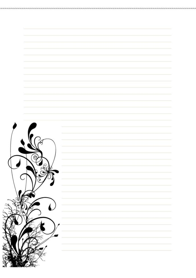 Amazing Free Stationary  Floral1 By Cpchocccc Within Free Lined Stationery Templates