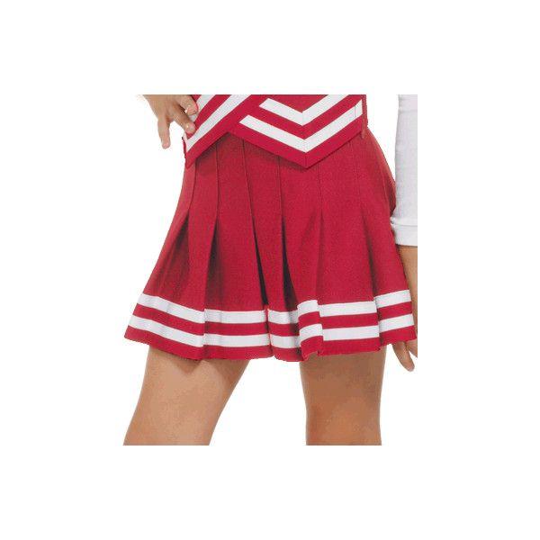 b8d554259 Double-Knit Knife-Pleat Cheerleading Uniform Skirt ($20) ❤ liked on Polyvore