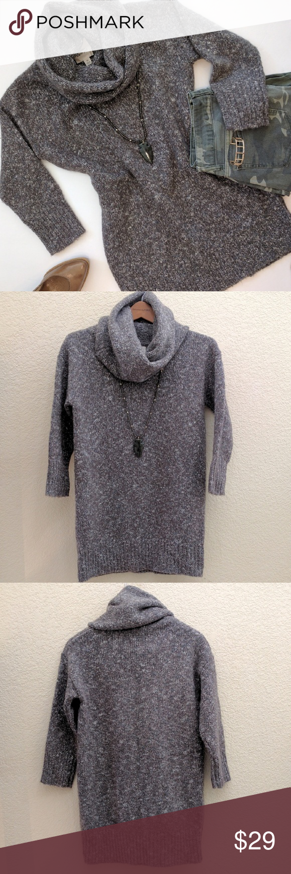 Between Me & You Cozy Cowl Neck Sweater Size M This tunic length ...